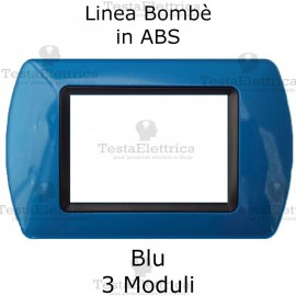 Placchetta Blu compatibile e adattabile Bticino Living Light