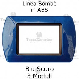 Placchetta Blu Scuro compatibile e adattabile Bticino Living Light