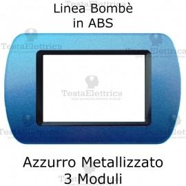 Placchetta Azzurro Metallizzato compatibile e adattabile Bticino Living Light