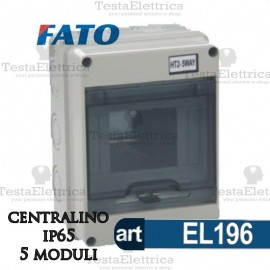 Centralino IP65 5 moduli FATO