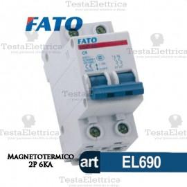 Interruttore magnetotermico 2P C40A 6KA 220V