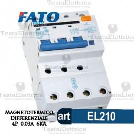 Interruttore Magnetotermico Differenziale 4P 25A FATO