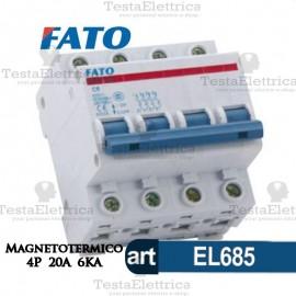 Interruttore Magnetotermico 4P 20A  FATO