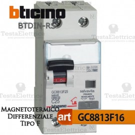 Interruttore Magnetotermico Differenziale tipo F 16A  220V Bticino