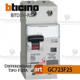 Differenziale tipo F 25A  220V Bticino