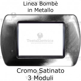 Placchetta compatibile Bticino Living Light cromo satinato in metallo