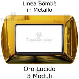 Placchetta compatibile Bticino Living Light Oro Lucido in metallo