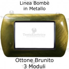 Placchetta compatibile Bticino Living Light ottone brunito in metallo