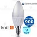 Lampadina a led candela E14 9 Watt Kodi