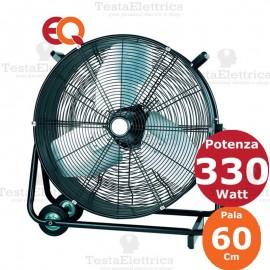 Ventilatore metallico con  ruote
