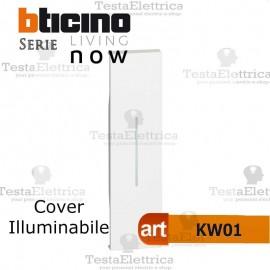 bticino KW01 cover illuminabile 1M living now