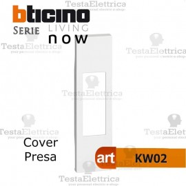 Cover bianca bticino living now KW02