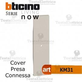 bticino KM31 cover presa connessa living now